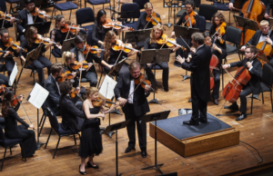 Cleveland Institute of Music Orchestra performs with Yoel Levi, conductor; Cihat Askin, violin; Caroline Goulding, violin; Raphael Wallfisch, cello